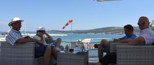 Miehistön vaihto Splitissä.